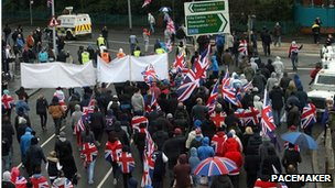 Union flag protest