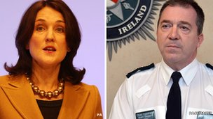 Theresa Villiers and Matt Baggott
