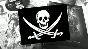Piracy skull and crossbones