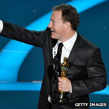 Simon Beaufoy at the Oscars in 2009