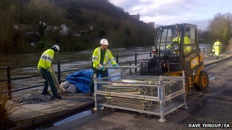 Barriers coming down in Ironbridge
