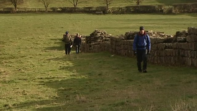 Walkers on Hadrian's Wall