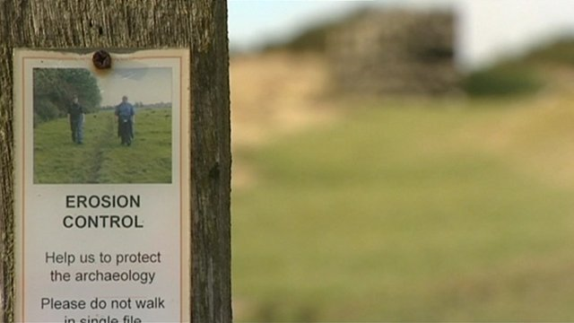 Poster on erosion control near to Hadrian&#039;s wall