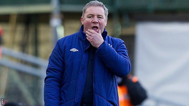 Rangers manager Allly McCoist
