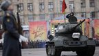 T-34 tank at military parade in Volgograd, 2 February