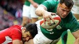 Prop Cian Healy scores for Ireland