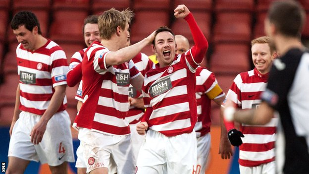 Hamilton were 2-0 winners at East End Park