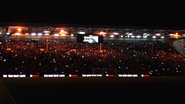 Lights go out at Craven Cottage