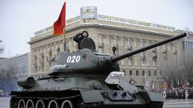 World War II-era Red Army T-34-85 tank