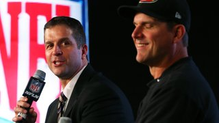 John Harbaugh and Jim Harbaugh