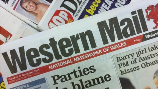Western Mail front page