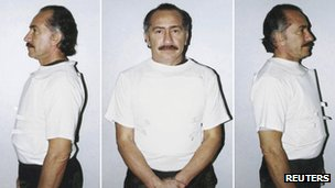Mugshot of Lino Oviedo from 2000
