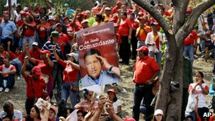 Pro-Chavez rally in Caracas on 23 January 2013
