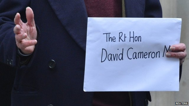 A letter addressed to Prime Minister David Cameron