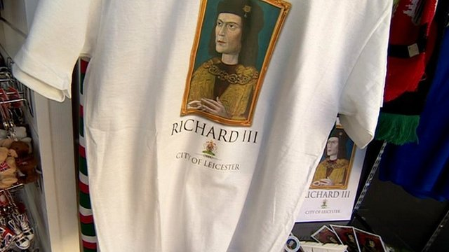 Mock-up for Richard III merchandise