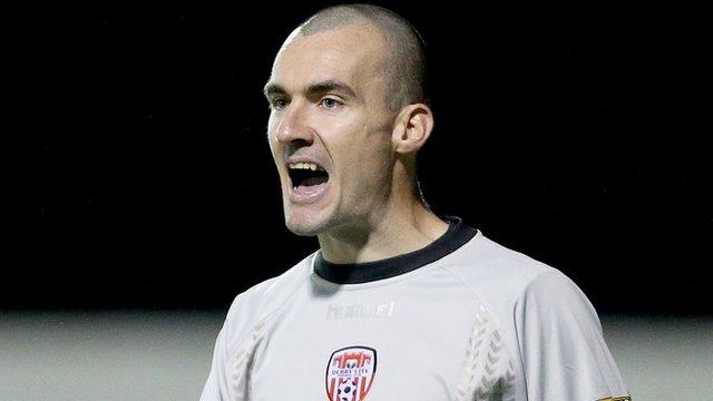 Derry City goalkeeper Gerard Doherty