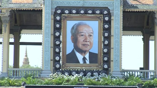 Portrait of King Sihanouk