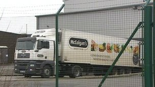 Lorry at McColgan's in County Tyrone