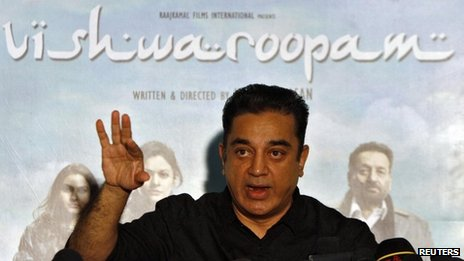 Actor and film-maker Kamal Haasan speaks with the media during a news conference in the southern Indian city of Chennai January 30, 2013.