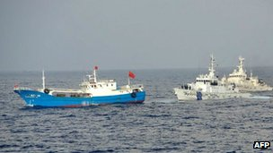 Japan's coast guard and the Chinese boat off Miyako island (2 Feb 2013)