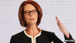 Australian PM Julia Gillard at the NPC Canberra (30 Jan 2013)