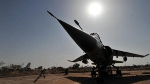 French Mirage jets in Bamako, Mali, , file pic
