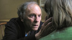Jean-Louis Trintignant and Emmanuelle Riva