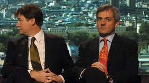 Nick Clegg and Chris Huhne during the 2007 Lib Dem leadership race
