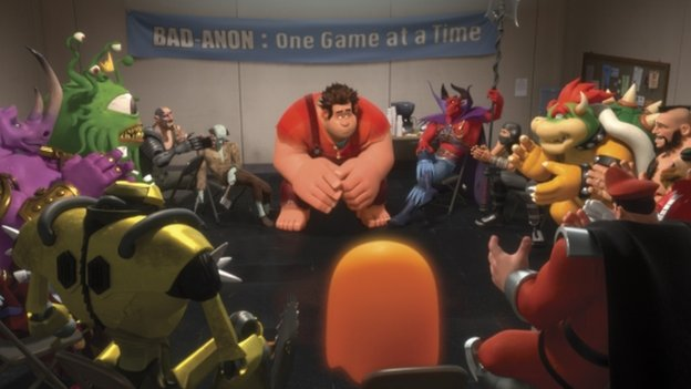 A scene from the film called Wreck-it Ralph