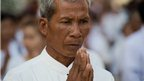 Cambodian man prays in Phnom Penh (4 Feb 2013)