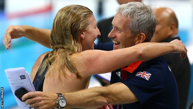 Rebecca Adlington and Bill Furniss