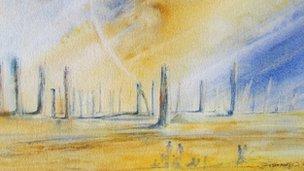 """Derek Massey's design for """"Woodhenge"""""""
