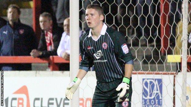 Accrington Stanley goalkeeper Andrew Dawber