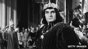 Laurence Olivier as Richard III in the Shakespeare play of the same name