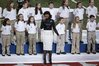Jennifer Hudson and the Sandy Brook Elementary School chorus
