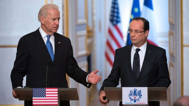 Joe Biden and Francois Hollande