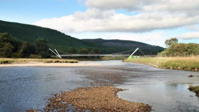 Image of the Braemar to Cairngorms bridge
