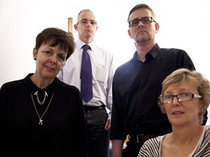 Probation workers Linda Kelly, Mark Burden, Rick Bridger and Liz Carter