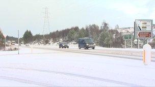 Snow on A9