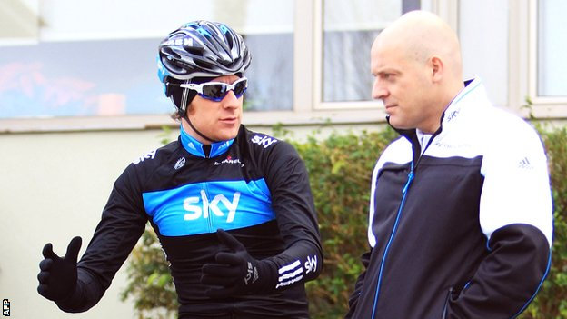 Sir Bradley Wiggins and Sir Dave Brailsford