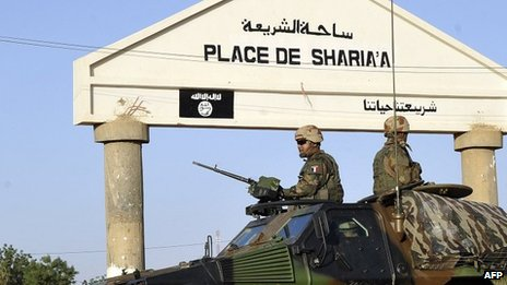 French forces in Gao, northern Mali. 4 Feb 2013