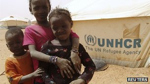 Malian children at refugee camp near the Niger border. 1 Feb 2013