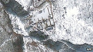 Satellite image of Punggye-ri nuclear test site (23 Jan 2013)