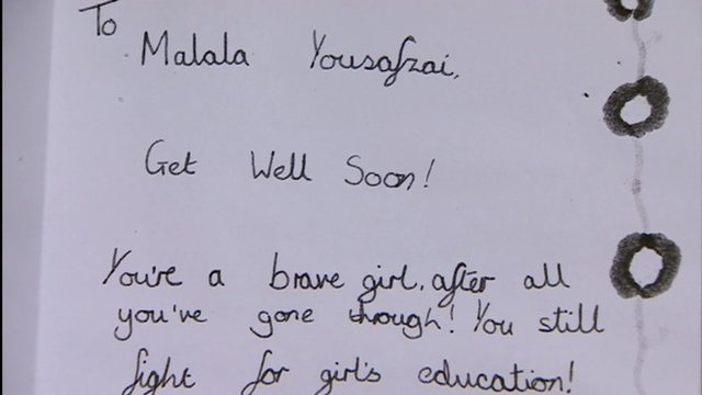 Letter from schoolgirl to Malala Yousufzai