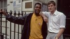 Lenny Henry working on a documentary about young homeless people in London, 1997