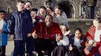 Lenny Henry with children, 2001