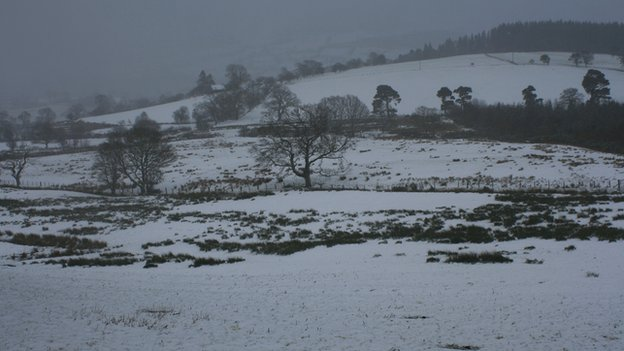 Snow in Bala, Gwynedd