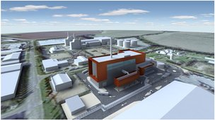 Artist's impression of the new Peterborough waste plant