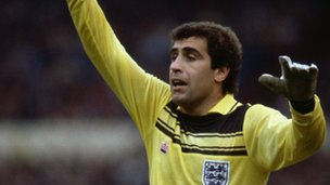 England goalkeeper Peter Shilton