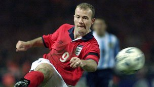 England striker Alan Shearer